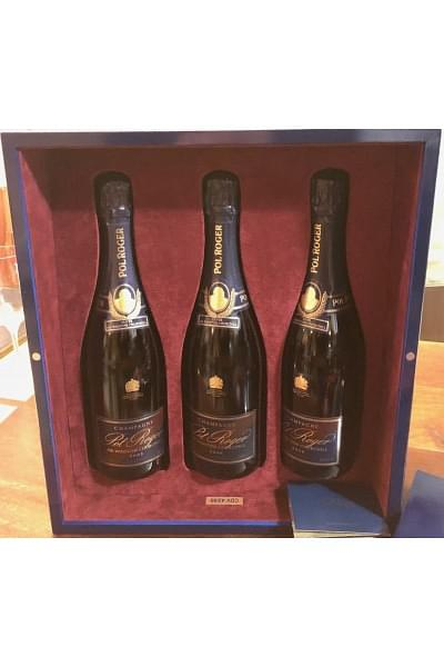 special box of 3 champagne cuvée sir winston churchill 2002-2006-2008 0 75 lt