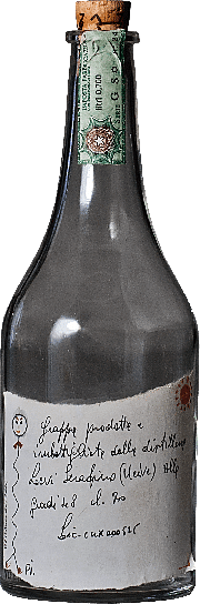 Grappa Romano Levi empty bottle for collection