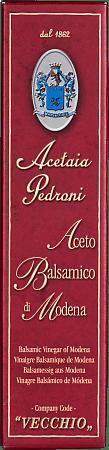 Balsamic Vinegar of Modena Pedroni aged 7 years 0.250 lt.