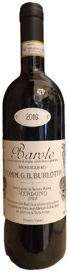 Barolo Monvigliero Burlotto 2016 0.75 lt.