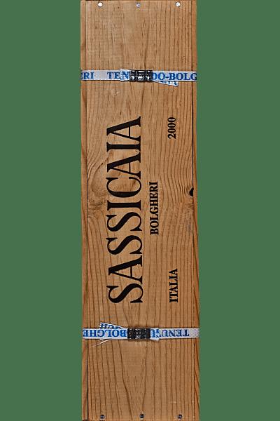 sassicaia tenuta san guido 2000 con autografo 6 lt