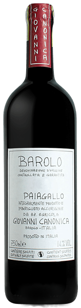 Barolo Paiagallo Canonica Giovanni 2016 0.75 lt.