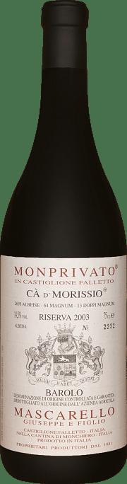 Monprivato Ca' d' Morissio Mascarello e Figlio Riserva 2003 0.75 lt.
