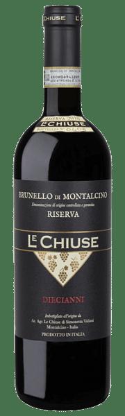 Brunello di Montalcino Riserva Diecianni Le Chiuse 2010 0.75 lt.